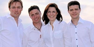 Les quatres mousquetaires : Cedric, Mathilde, Maxime et Fabien